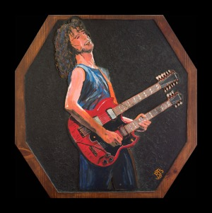 Jimmy Page on Wood