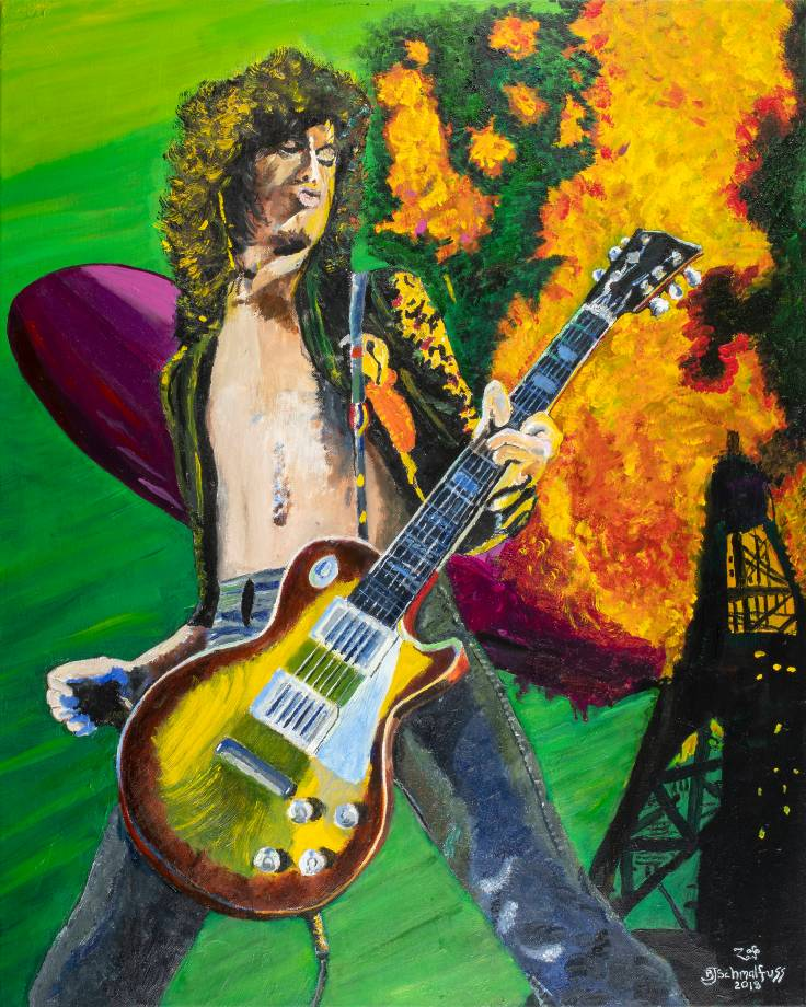 Jimmy Page on Fire